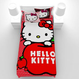 روتختی یک نفره Sweet Home مدل HELLO KITTY